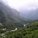 Údolí Soče u pramene