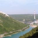 Elektrárna na východním pobřeží Istrie