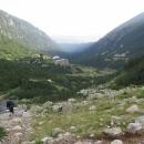Ráno scházíme poslední patro k chatě (cca 1960 metrů nad mořem)