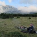 Teprve pak si můžeme užít klidný večer vysoko v horách