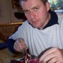 Luděk a co jiného než borůvkové knedlíky, který si tady dáváme snad pokaždý :-)