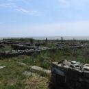 Cetatea Histria se nachází na pobřeží brakického jezera Lacul Sinoi