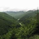 Při stoupání máme výhledy na pohoří Rodna