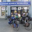 Na nádraží v Michalovcích zakončujeme naši cestu