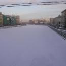 Benátky severu v zimě zamrzají