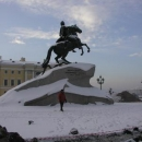 Měděný jezdec - památník Petrovi I., který mu dala postavit Kateřina Veliká v roce 1782
