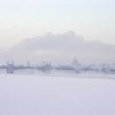 Pohled na zamrzlý Petrohrad