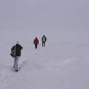 Výlet na Ladožské jezero: kdybyste to náhodou nepoznali, stojíme přímo na jeho hladině.