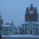 Palác Smolnyj je bohužel pod lešením