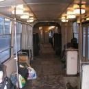 V tramvaji. Jinak jsme většinou jezdili autobusem nebo maršrutkou