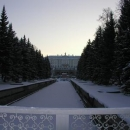 Petrodvorec - slunce tady zapadalo hodně brzy odpoledne