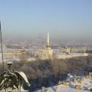 Pohled na město z kopule Isaakievskeho chrámu