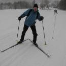 Běžkař Pavel Z., který prý stál na běžkách naposledy v sedmé třídě