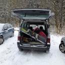 Všechno zimní vybavení jsme narvali do auta a jedeme do Vlčkovic.