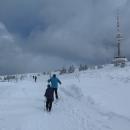 Na silnici na Praděd sněhové jazyky