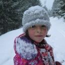 Šárka po jedné takové sněhové přeháňce :-)