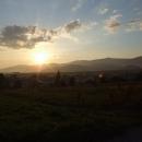 Večerní slunce nad Horehroním