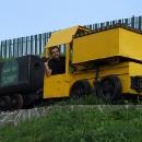 Pavel na důlní mašince ve Slovinkách