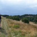 Po pivu a svačině jdeme po cyklotrase Čergovským hřebenem dál