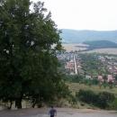 Výhled z hradu do podhradí