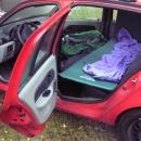 Poněkud zalomený první nocleh v autě ve Strečně