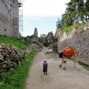 Šárka na hradě Lietava
