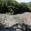 Suťové pole na hradním kopci Šomoška