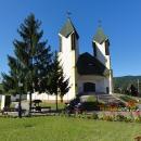 Kostelík v Hjanačce, kde Luděk s Šárkou odpočívají