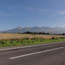 Ranní Vysoké Tatry ze silnice