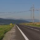 Ranní Nízké Tatry ze silnice