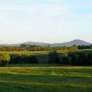 Podvečer s výhledem na hřeben Lužických hor