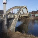 Hned ve Štěchovicích překračujeme řeku přes prvorepublikový most Dr. Edvarda Beneše