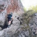 Cesta do Súľovských skal začíná horolezeckým výstupem :-)