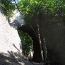 V lesích ukrytá skalní brána