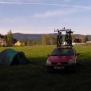 Sobotní ráno v kempu v Nové Peci