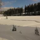 Šumavské pláně (prameniště u Nového Brunstu) pod sněhem