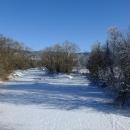 Teplá Vltava tu zamrzla
