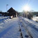 Nádražíčko na konci socialistického světa, vlaky dojíždí až k sněhové závěji