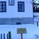Svatý Florián k ochraně před ohněm na průčelí domu v Českých Žlebech