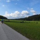 Slovensko 3 - Veľká Lúka s pasoucími se koňmi