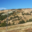 Králický Sněžník v podzimních barvách (úplně vpravo je pramen Moravy)