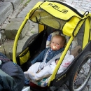 Šárka je ve vozíku spokojená, i když se nejede