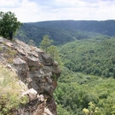 V přírodní rezervaci Velká skála nad řekou Jihlavou