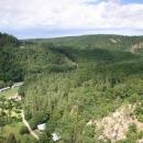 Údolí Jihlavy od Templštejna - v pozadí Velká skála