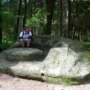 Jdeme ještě na jeden okružní výlet - toto je skalní útvar Panský stůl