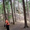 Markéta a skalní útvar Hrad