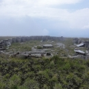 Ruiny jednoho z míčů radarové stanice na Stiji