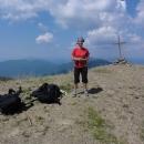 Markéta na vrcholu Poloniny Runa