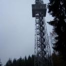 50m vysoká telekomunikační rozhledna stojí na místě původní staré rozhledny.