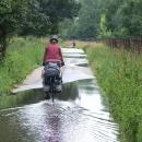 Míříme k soutoku Moravy a Dyje, jen to zatopené okolí je podezřelé